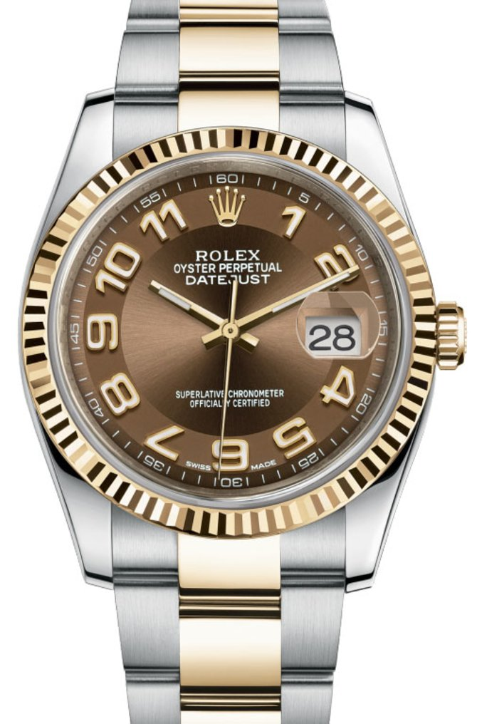 Rolex 116233 brao Datejust Steel and Yellow Gold