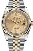 Rolex Datejust 116233 champagne Steel and Yellow Gold
