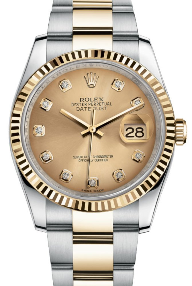 Rolex 116233 chdo Datejust Steel and Yellow Gold