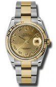 Rolex Datejust 116233 chsbro Steel and Yellow Gold