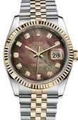 Rolex Datejust 116233 dkmdj Steel and Yellow Gold