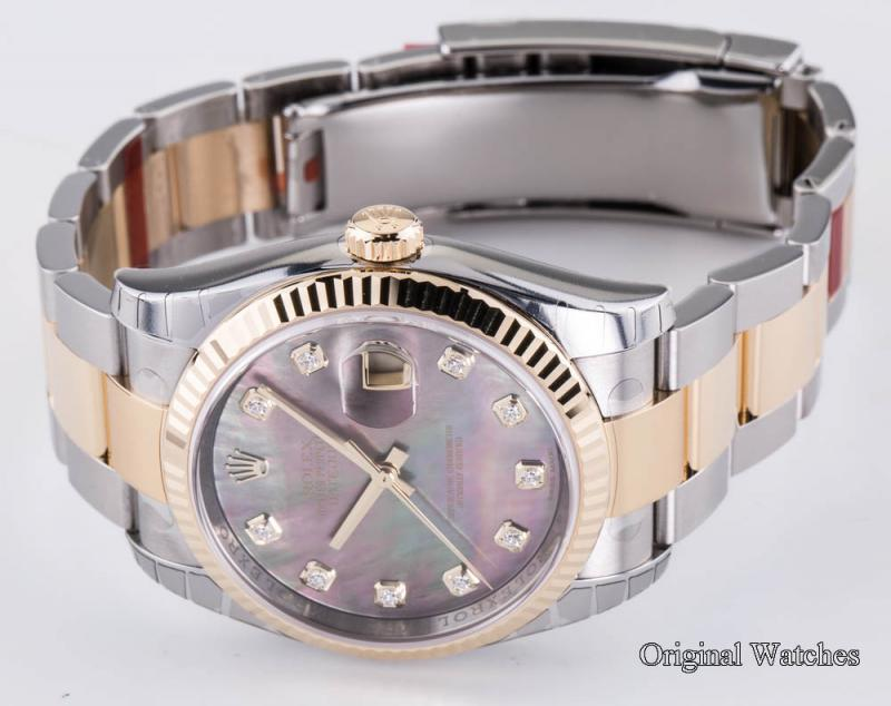 116233 dkmdo Rolex Steel and Yellow Gold Datejust