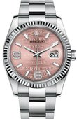 Rolex Datejust 116234 pink waves diamond dial 36
