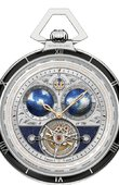 Montblanc Villeret 1858 112586 Tourbillon Cylindrique Transatlantic Pocket Watch Limited Edition 8