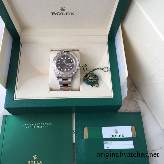 116621-0001 Rolex 40 mm Steel and Everose Gold Yacht Master II