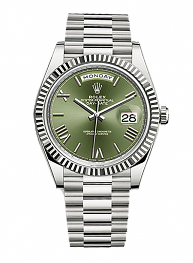 228239-0033 Rolex Day-Date White Gold 40 mm Oyster Perpetual