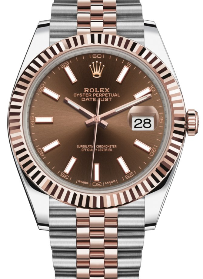 126331-0002 Rolex 41 mm Steel and Everose Gold Datejust
