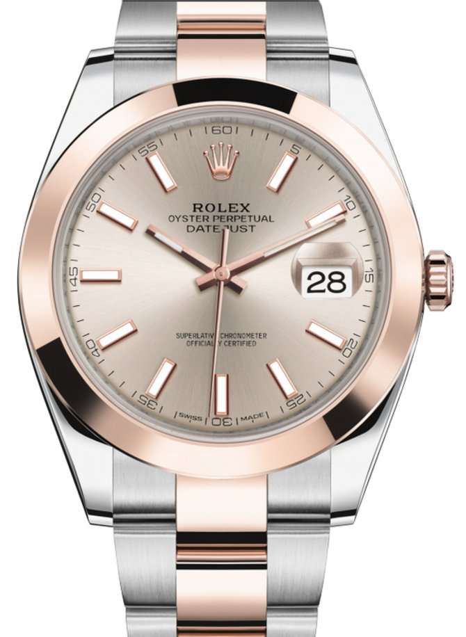 Rolex 126301-0009 Datejust 41 mm Steel and Everose Gold