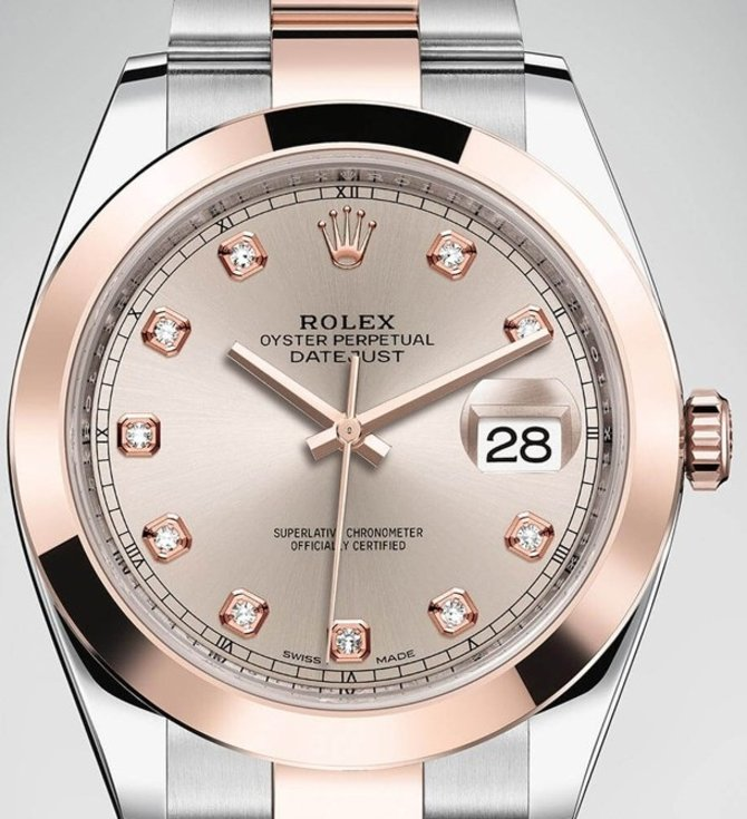 Rolex 126301-0007 Datejust 41 mm Steel and Everose Gold - фото 3