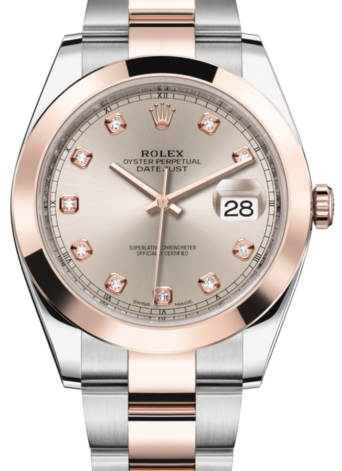 Rolex 126301-0007 Datejust 41 mm Steel and Everose Gold - фото 1