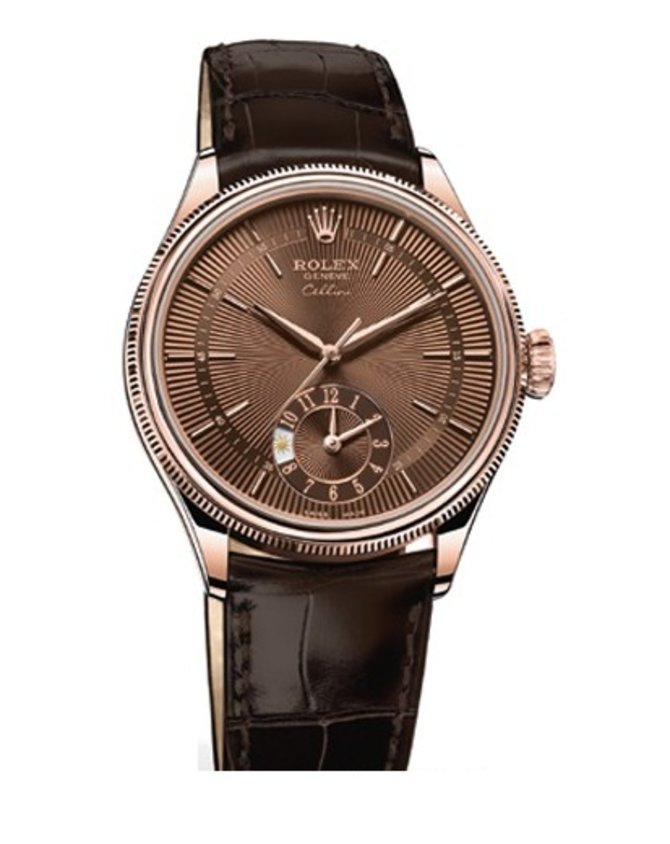 50525 brown Rolex Dual Time Cellini