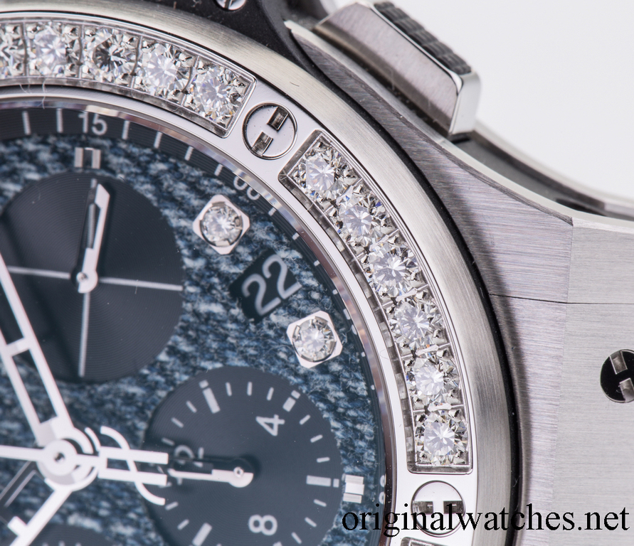341.SX.2770.NR.1204.JEANS Hublot Jeans Steel Diamonds Big Bang 41mm