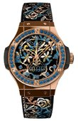 Hublot Big Bang 41mm 343.PS.6599.NR.1201 Broderie Sugar Skull Gold