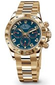 Rolex Daytona 116528 blue Yellow Gold