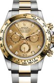 Rolex Daytona 116523 champagne dial diamond Stainless Steel Yellow Gold