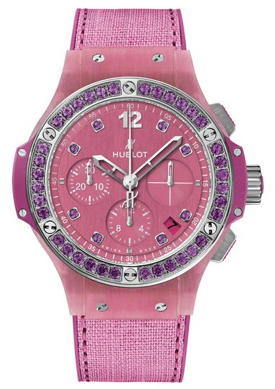 341.XP.2770.NR.1205 Hublot Tutti Frutti Linen Purple Big Bang 41mm Ladies