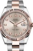 Rolex Datejust 126331 Sundust set with diamonds Oyster Bracelet Rolesor Everose New 2016
