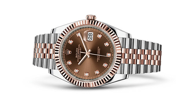 126331 Chocolate set with diamonds Jubilee Bracele Rolex 41 mm Rolesor Everose New 2016 Datejust