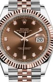 Rolex Datejust 126331 Chocolate set with diamonds Jubilee Bracele 41 mm Rolesor Everose New 2016