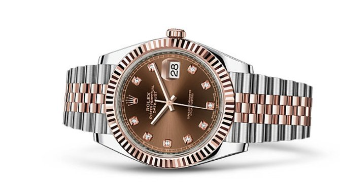 Rolex 126331 Chocolate set with diamonds Jubilee Bracele Datejust 41 mm Rolesor Everose New 2016 - фото 2