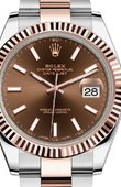 Rolex Datejust 126331 Chocolate Oyster Bracelet 41 mm Rolesor Everose New 2016