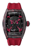 Cvstos Часы Cvstos Challenge Red & Black Carbon Forged Carbon Honolulu Inkvaders Skull