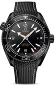 Omega Seamaster 215.92.46.22.01.001 Planet Ocean 600 M Co-Axial Chronometer GMT Deep Black