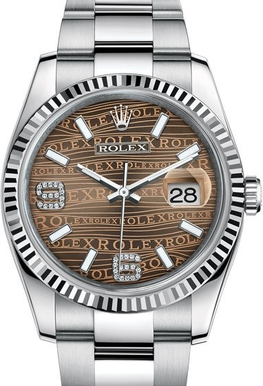 116234-0156 Rolex Steel and White Gold Datejust