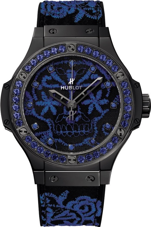 343.CL.6590.NR.1201 Hublot Broderie Skull Big Bang 41mm Ladies