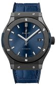 Hublot Classic Fusion 511.CM.7170.LR Black Ceramic Blue Watch 45 mm