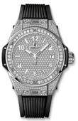 Hublot Big Bang 38mm Ladies 465.SX.9010.RX.1604 One Click Steel Full Pavé