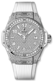 Hublot Big Bang 38mm Ladies 465.SE.9010.RW.1604 One Click Steel White Full Pavé