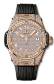 Hublot Big Bang 38mm Ladies 465.OX.9010.RX.1604 One Click King Gold Full Pavé