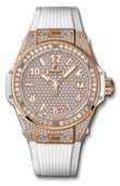 Hublot Big Bang 38mm Ladies 465.OE.9010.RW.1604 One Click King Gold White Full Pavé