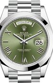 Rolex Day-Date 228206 Olive green 40 mm Platinum