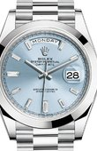 Rolex Day-Date 228206 Ice blue set with diamonds 40 mm Platinum