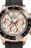 Rolex Daytona 116515LN Ivory-coloured Everose gold Black Cerachrom Oysterflex