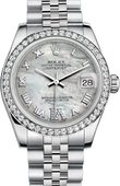 Rolex Datejust Ladies 178384-0040 31mm White Gold