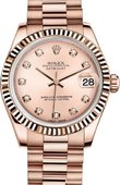 Rolex Datejust Ladies 178275f-0008 Everose Gold