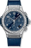 Hublot Big Bang 41mm 341.SX.7170.LR.1204 Steel Blue Diamonds 41 mm