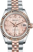 Rolex Datejust Ladies 178271-0012 31 mm Steel and Everose Gold