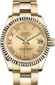 Rolex Datejust Ladies 178278-0115 Datejust 31 mm Yellow Gold