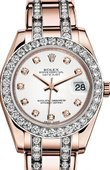 Rolex Datejust Ladies 81285-0040 Pearlmaster Everose Gold 34 mm