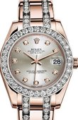 Rolex Datejust Ladies 81285-0034 Pearlmaster Everose Gold 34