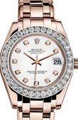 Rolex Datejust Ladies 81285-0033 Pearlmaster Everose Gold 34 mm