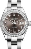 Rolex Datejust Ladies 279384rbr-0016 Steel and White Gold