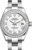 Rolex Datejust Ladies 279384rbr-0020 Steel and White Gold