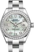Rolex Datejust Ladies 279384rbr-0012 Steel and White Gold