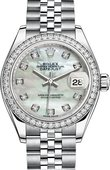 Rolex Datejust Ladies 279384rbr-0011 Steel and White Gold