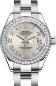 Rolex Datejust Ladies 279384rbr-0010 Steel and White Gold